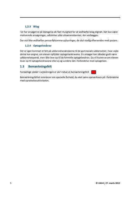 Vejledning til afhentning af ansøgninger - Optagelse.dk