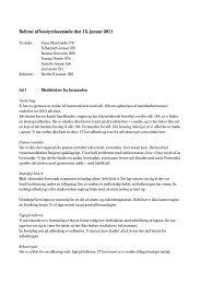 Referat af bestyrelsesmøde den 15. januar 2011