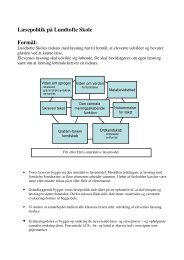 Mål Aktiviteter Materialer Evaluering - Lundtofte skole
