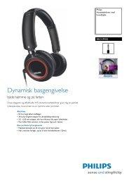 SBCHP400/10 Philips Hovedtelefoner med hovedbøjle - FDM netbutik