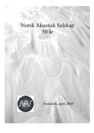 herfra - Norsk Akustisk Selskap