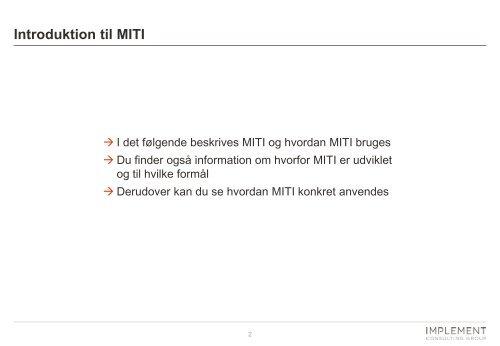 Introduktion til MITI - Den Motiverende Samtale