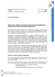Høring vedr. udkast til ændring af eksamensbekendtgørelsen og ...
