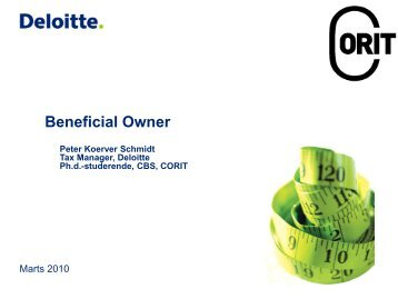 Beneficial owner - Corit Academic
