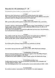 Husorden for AB Jydeholmen 27 – 29