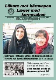 lmk108 mars 2007 - Svenska Läkare mot Kärnvapen