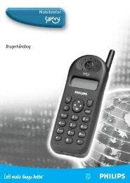Mobiltelefon Brugerhåndbog - Philips