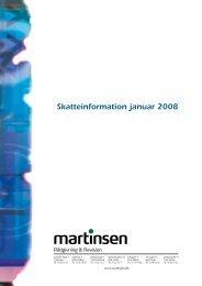 Skatteinformation januar 2008 - Martinsen Statsautoriseret ...