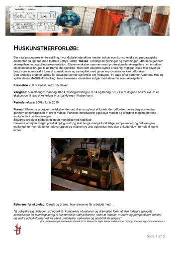 Download Bogen om Huskunstner - MÅSKE i skolen - Asterions Hus