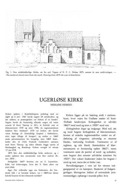 UGERLØSE KIRKE - Danmarks Kirker - Nationalmuseet