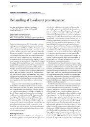Behandling af lokaliseret prostatacancer - Ugeskrift for Læger