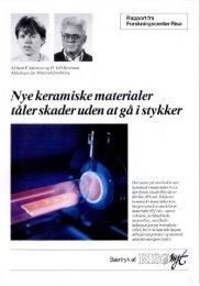 Nye keramiske materialer t'ålerskaderuden atg'a i ... - Materials.dk