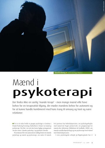 Mænd i psykoterapi - Tomas Friis