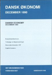 Dansk økonomi, december 1990 - De Økonomiske Råd