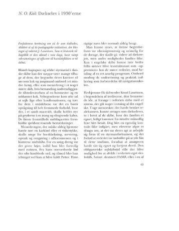 N. O. Kiil: Dækselev i 1930'erne, s. 65-83