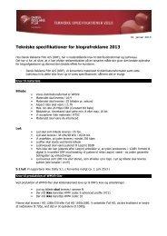 Tekniske specifikationer for biografreklame 2013 - Dansk Reklame ...