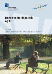 Dansk velfærdspolitik og EU - Forum Europa