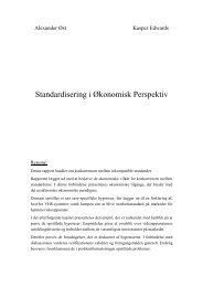 Standardisering i Økonomisk Perspektiv - Kasper Edwards