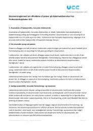 Eksamensreglement om afholdelse af prøver på diplomuddannelser ...