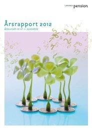 Årsrapport 2012 - Lærernes Pension