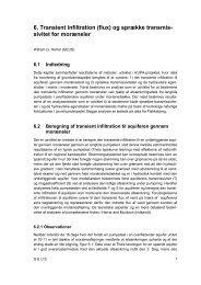 6. Transient infiltration (flux) og sprække transmis ... - KUPA projektet
