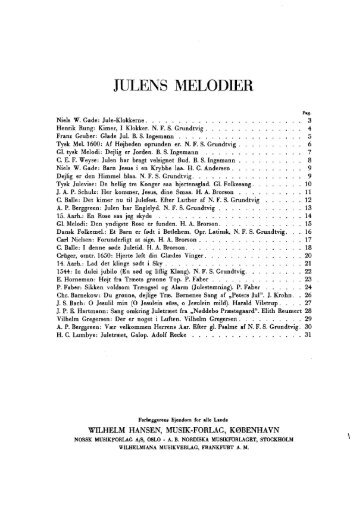 JULENS MELODIER