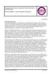 Høringssvar fra NGO-forum Side 1 af 5 Høringssvar fra NGO-forum ...