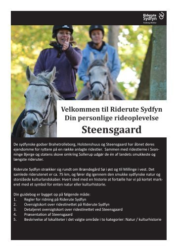Steensgaard – kort - Riderute Sydfyn