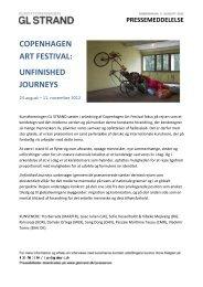 copenhagen art festival: unfinished journeys - Kunstforeningen GL ...