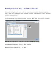 Scanning af dokument til sag – anvendelse af funktionen - eCTRL