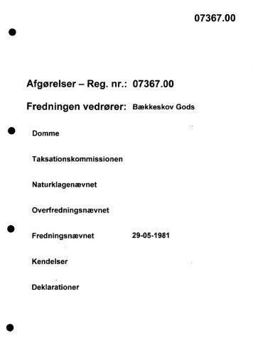 07367.00 Fredningen vedrører - Naturstyrelsen