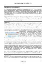 Redigering af Excel regneark - Jan Kronsell