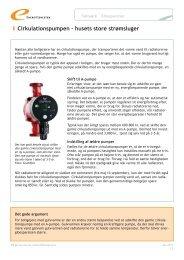 Cirkulationspumpen – husets store strømsluger - Energitjenesten