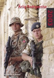 Årlig Redegørelse 2003 - Forsvarsministeriet