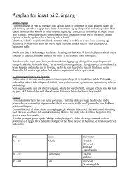 Årsplan for idræt på 2. årgang - Marienhoffskolen