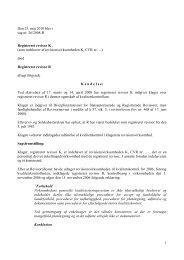 1 Den 25. maj 2010 blev i sag nr. 26/2008-R ... - Revisornævnet