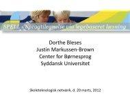 Dorthe Bleses - Præsentation af SPELL.pdf - EduTechNet