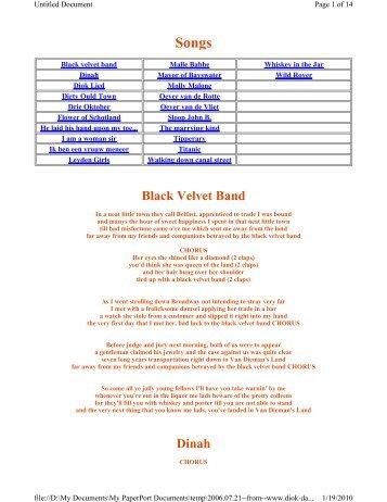 Black Velvet Band Dinah - Horntip