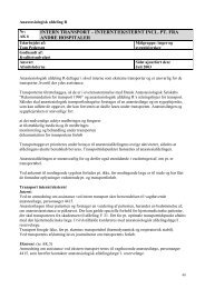 Interne transporter - Erfaringsregistrering