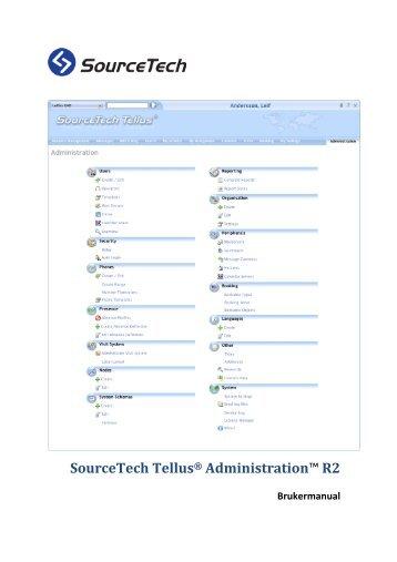 SourceTech Tellus® Administration™ R2 - SourceTech AB