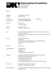 2. sem. Materialelære/Produktion 70091 - Designskolen Kolding