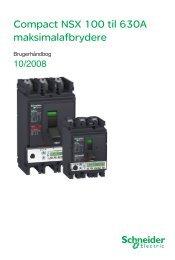 Compact NSX 100 til 630A maksimalafbrydere - Schneider Electric