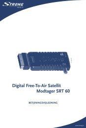 Digital Free-To-Air Satellit Modtager SRT 60 - STRONG Digital TV