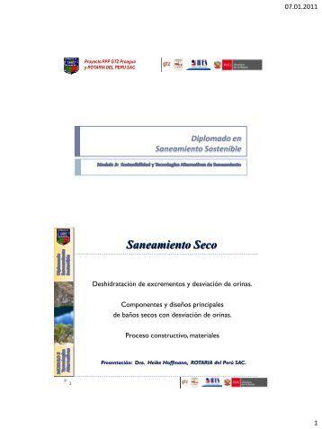 Diplomado UNALM Saneamiento Seco y Desviación ... - SCADAweb