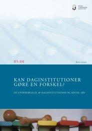 KAN DAGINSTITUTIONER GØRE EN FORSKEL? - Social