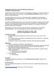 Dialogmøde i forbindelse med Lokal Afledning af Regnvand i ...