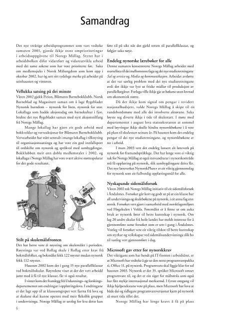 Årsmelding - Noregs Mållag