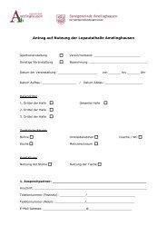Antrag auf Nutzung der Lopautalhalle Amelinghausen