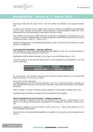 Energiafgifter – Status pr. 1. februar 2013