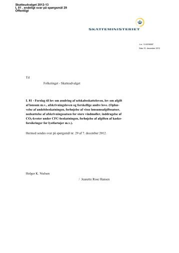 Svar SAU spm 29 DOK11633065 - Folketingsbilag